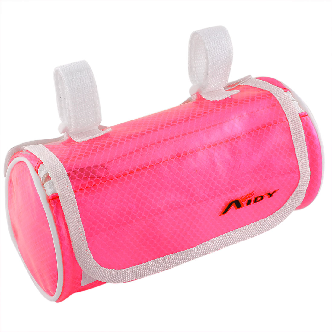 Cycling Bike Bicycle Front Pannier Basket Water Resistant Handlebar Bar Pouch Bag Clear Fuchsia