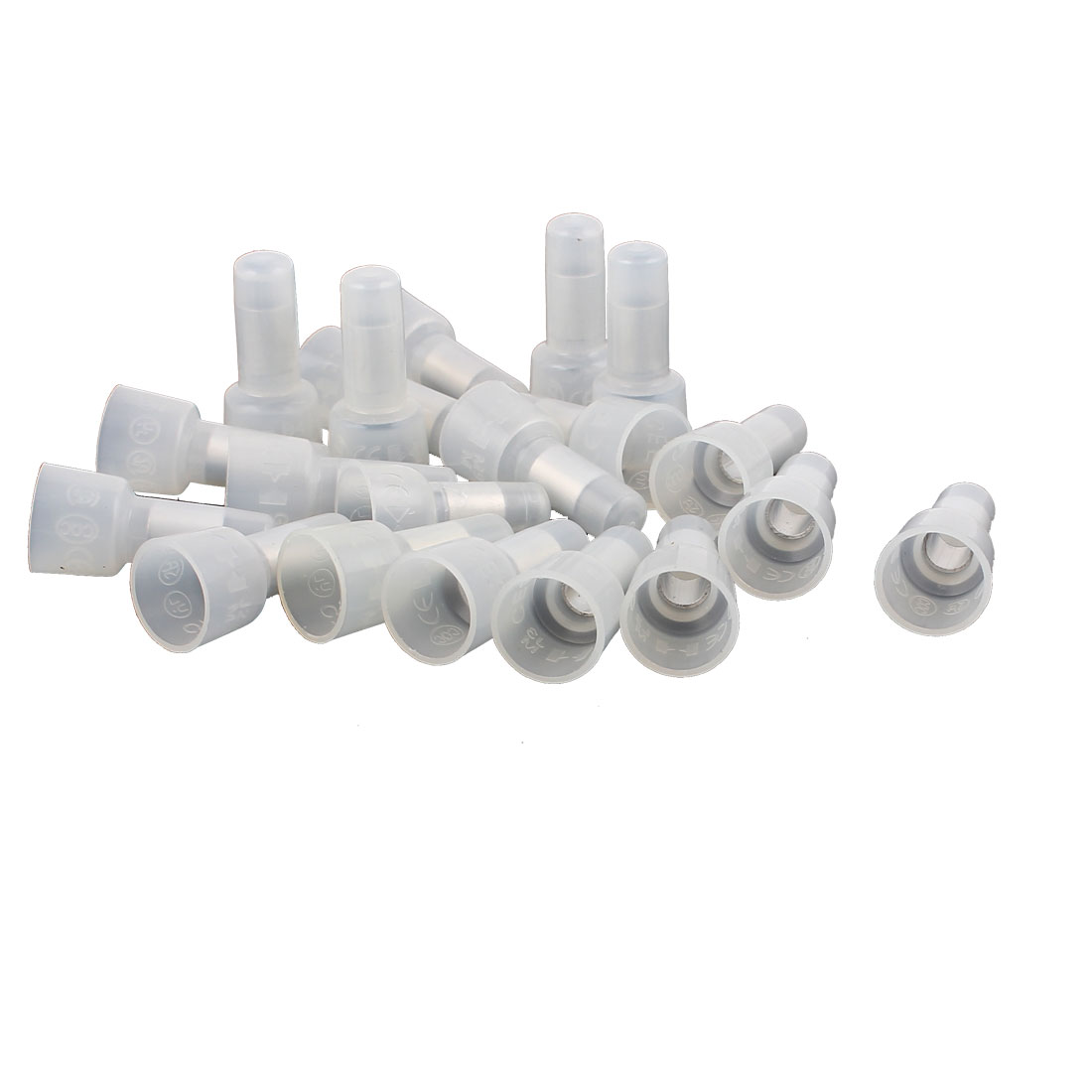 20Pcs 12-10 AWG 4mm Metal Inner Dia Tin-plated Tube Closed End Wire Connectors