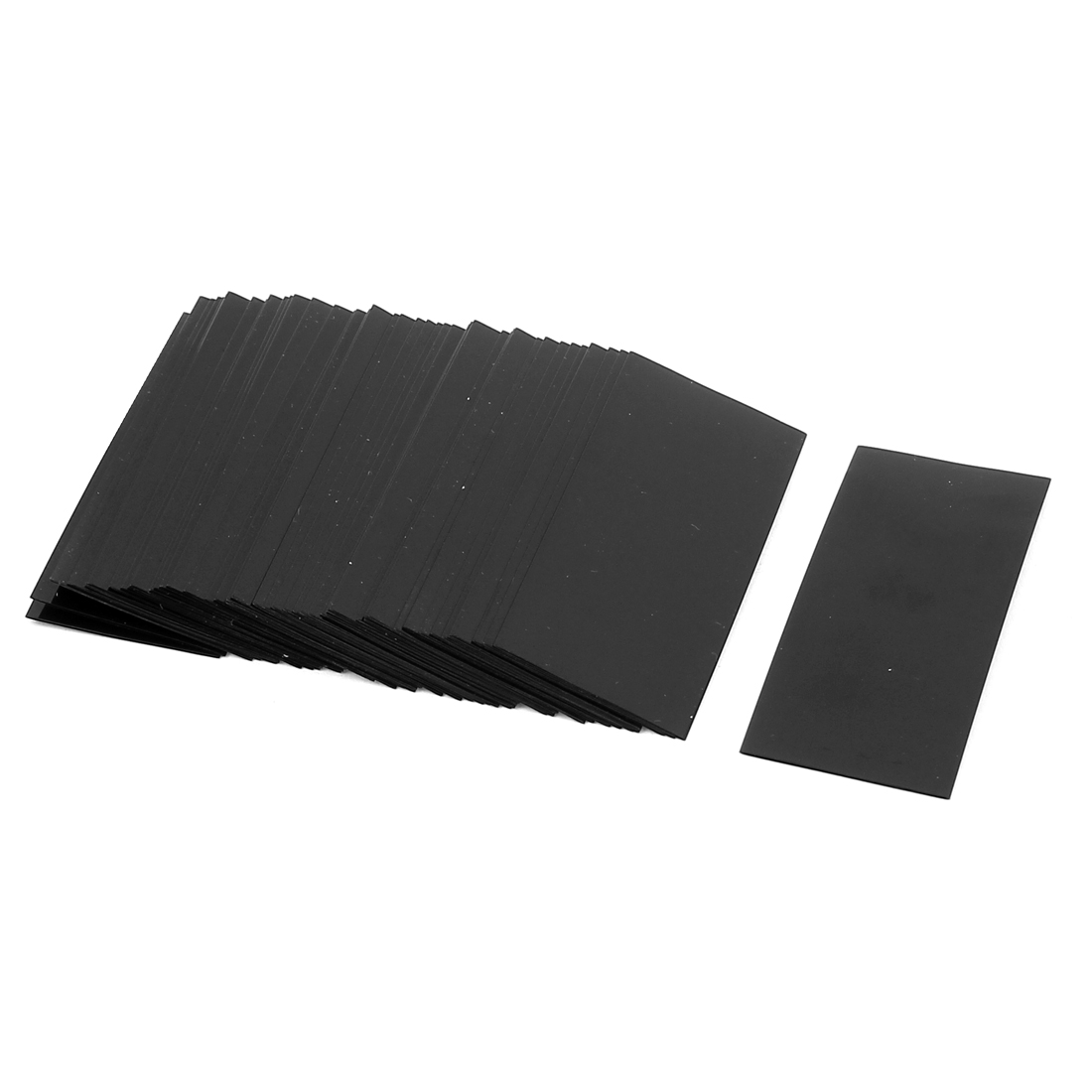 50pcs 23mm 14.5mm Dia PVC Heat Shrink Tubing Black for Single 1.5V AA Battery