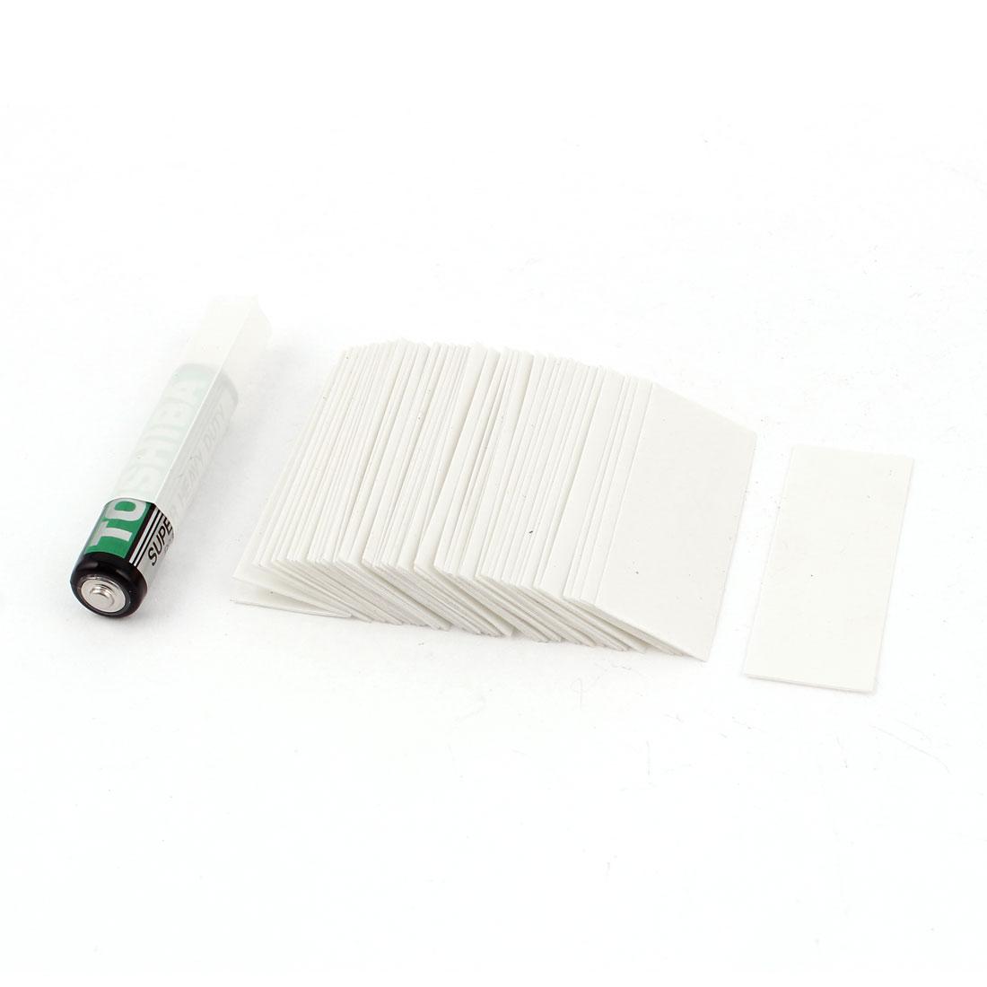 50pcs 17mm 10.8mm Dia PVC Heat Shrink Tubing White for 1 x 1.5V AAA Battery