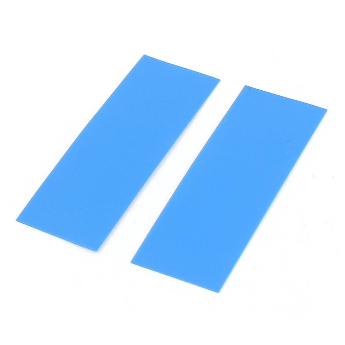 50pcs 17mm 10.8mm Dia PVC Heat Shrink Tubing Blue for Single AAA Battery
