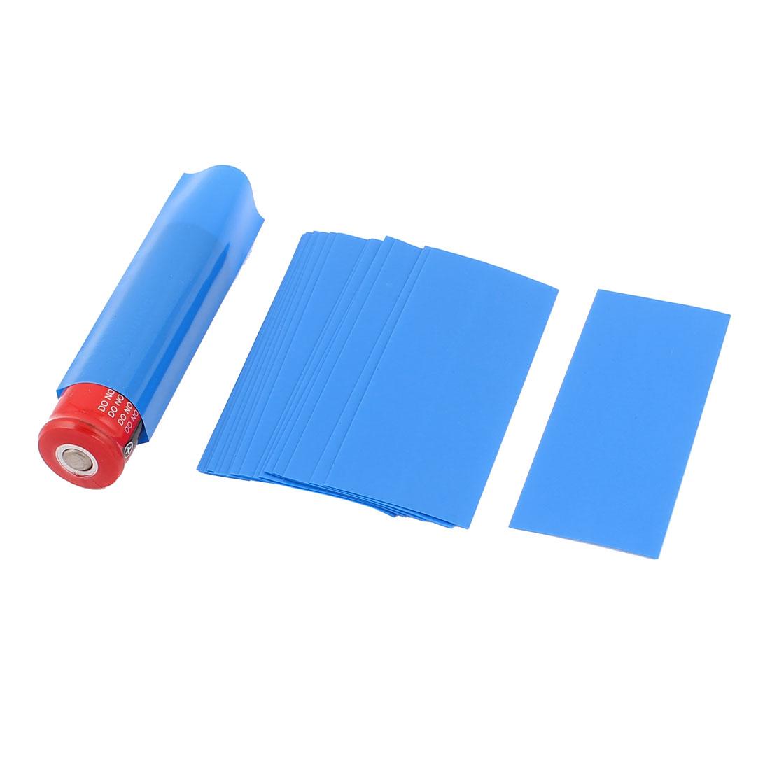 20pcs 18.5mm Dia PVC Heat Shrink Tubing Blue for 1 x 18650/18500 Battery