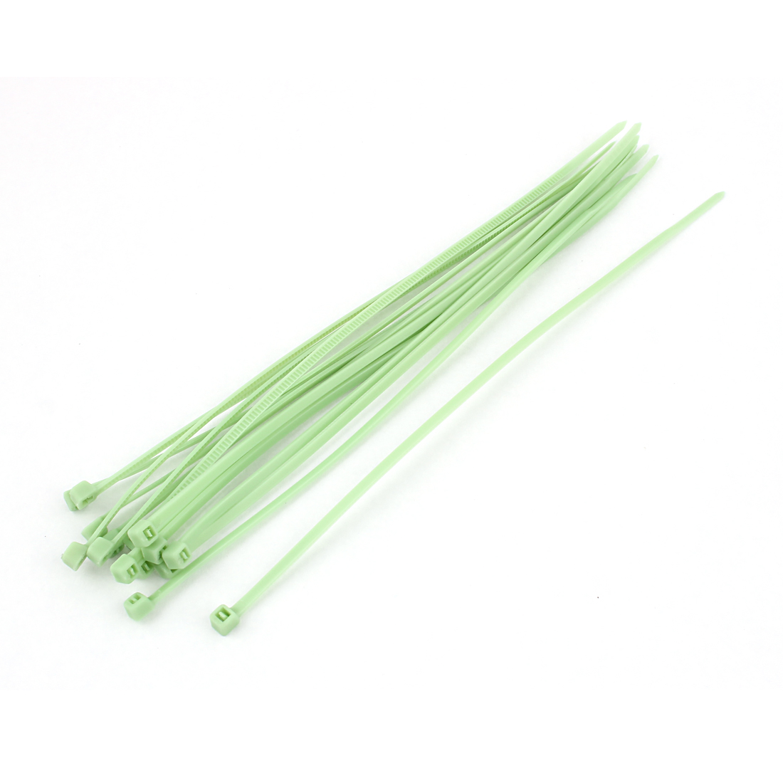 "15pcs 8"" Nylon Self-Locking Network Cable Cord Wire Zip Ties Strap Green"