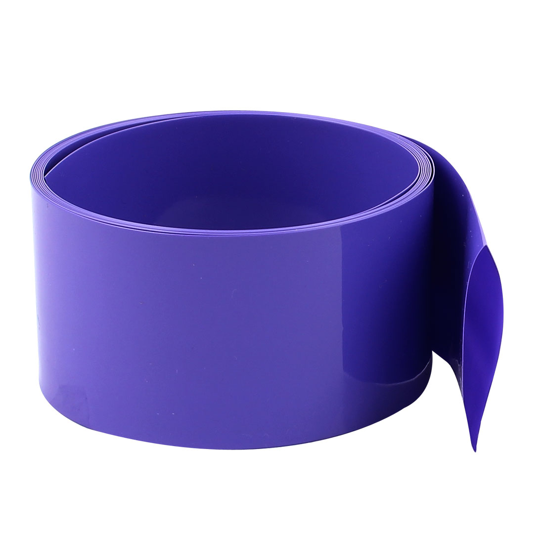 2M 43mm Flat 27mm Dia PVC Heat Shrink Tubing Purple for 1 x 26650 Battery