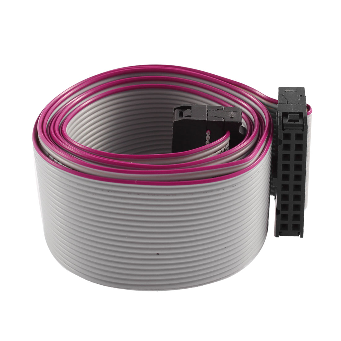 FC20P IDC 20Pin F/F Hard Drive Data Extension Wire Flat Ribbon Cable Connector 100cm Long for Motherboard