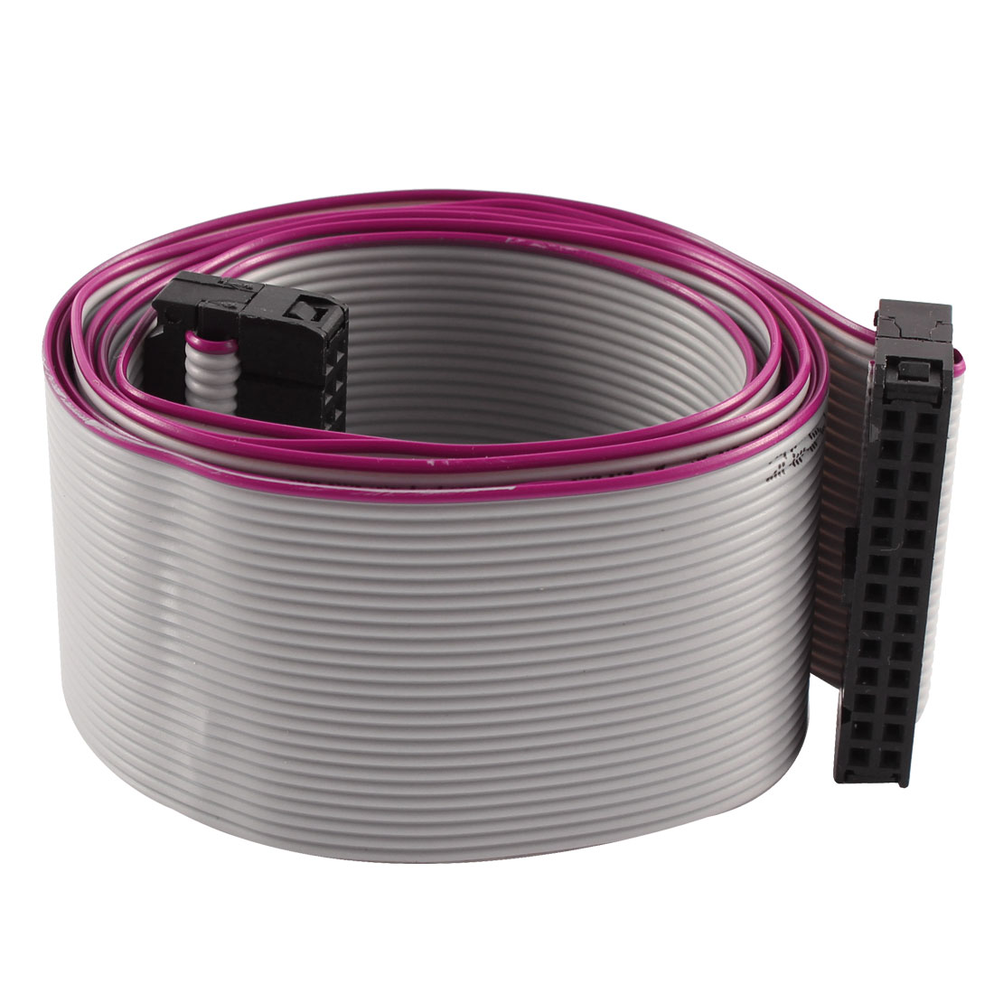 FC-26P IDC 26-Pin F/F Hard Drive Data Extension Wire Flat Ribbon Cable Connector 100cm Long for Motherboard