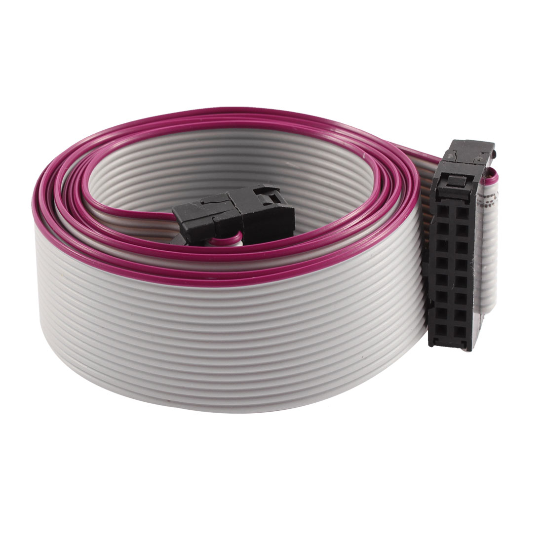 FC16P IDC 16 Pin F/F Hard Drive Data Extension Wire Flat Ribbon Cable Connector 100cm Long for Motherboard