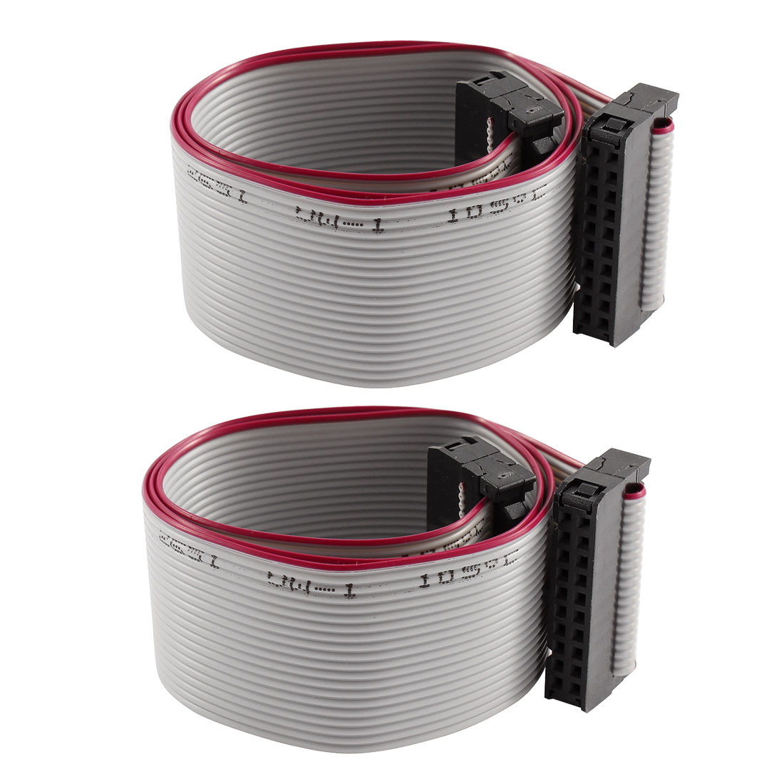2 Pcs FC-20P IDC 20-Pin F/F Hard Drive Data Extension Wire Flat Ribbon Cable Connector 40cm Long for Motherboard
