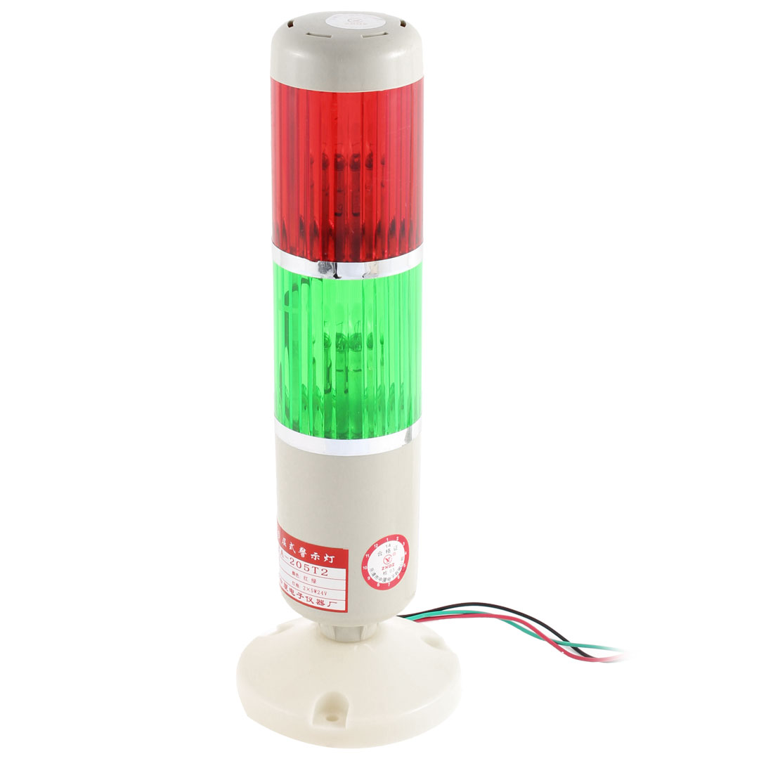 DC 24V Red Green Signal Tower Lamp Industrial Warning Stack Light LTA-205T2