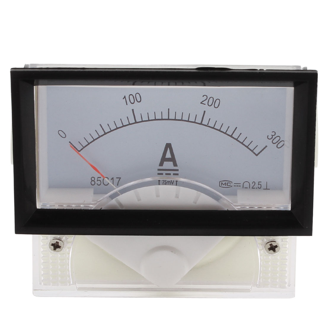 DC 0-300A Rectangle Analog Panel Ammeter Gauge Ampere Meter Class 2.5