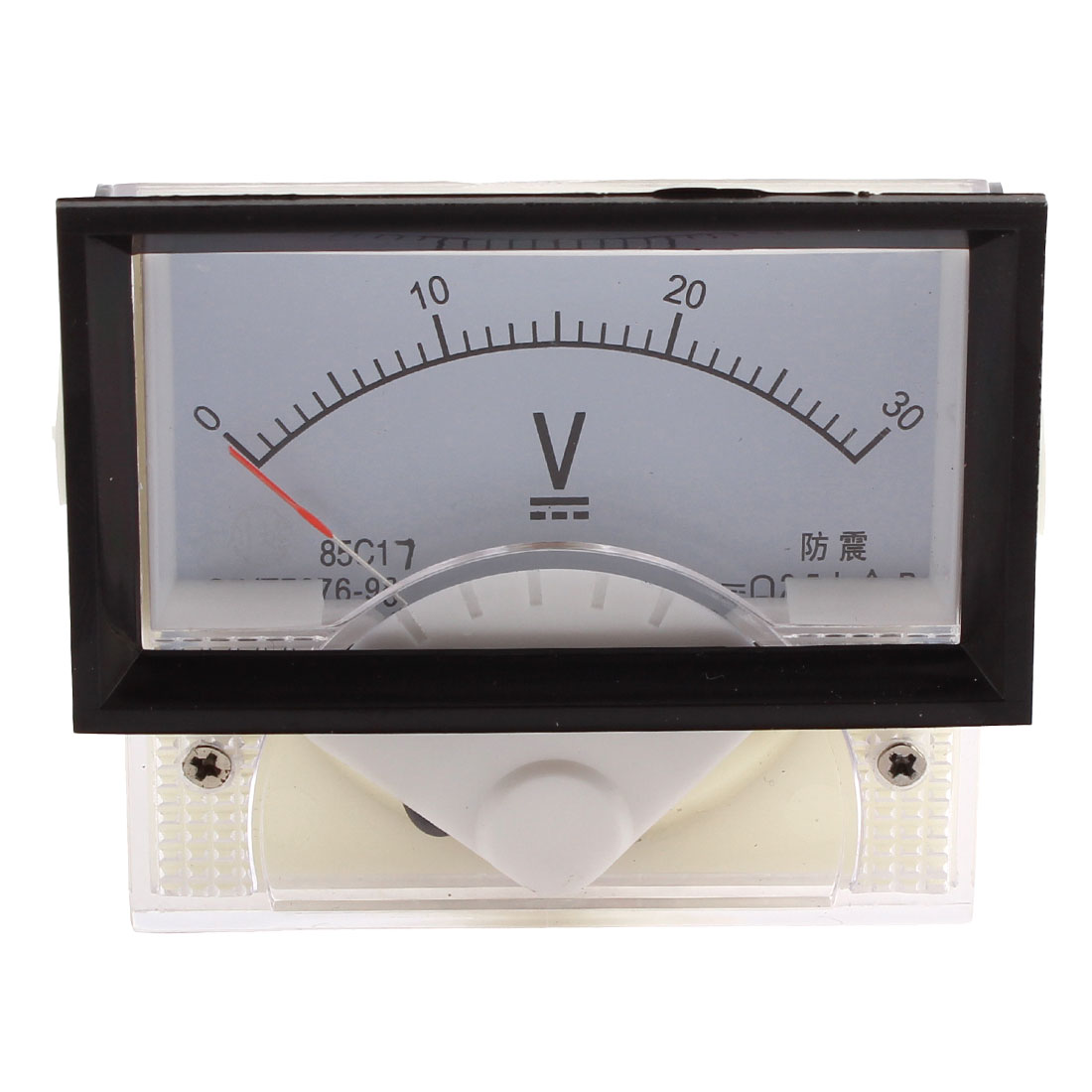 85C17 DC 0-30V Rectangle Panel Gauge Meter Analog Ampere Ammeter Class 2.5