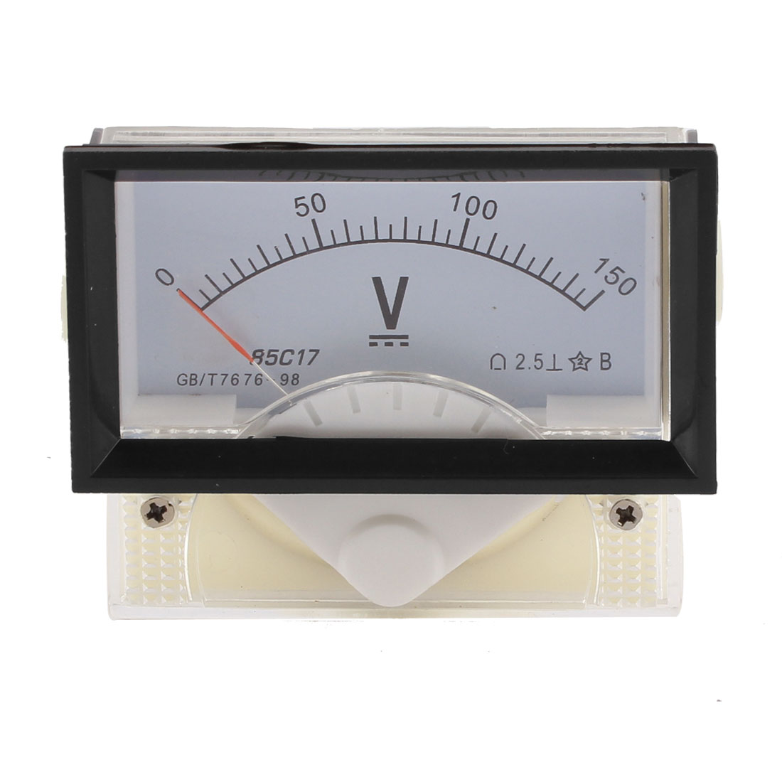 85C17 DC 0-150V Rectangle Panel Gauge Voltmeter Voltage Meter Class 2.5