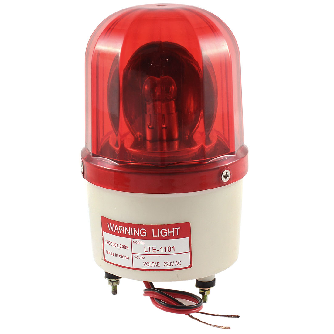 AC 220V 10W Industrial Alarm System Red Rotating Warning Light Lamp LTE-1101