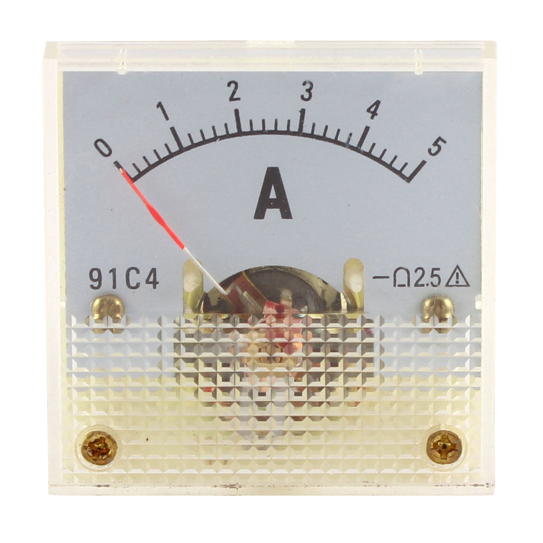 91C4 DC 0-5A Rectangle Mini Analog Panel Ammeter Gauge Amperemeter Class 2.5