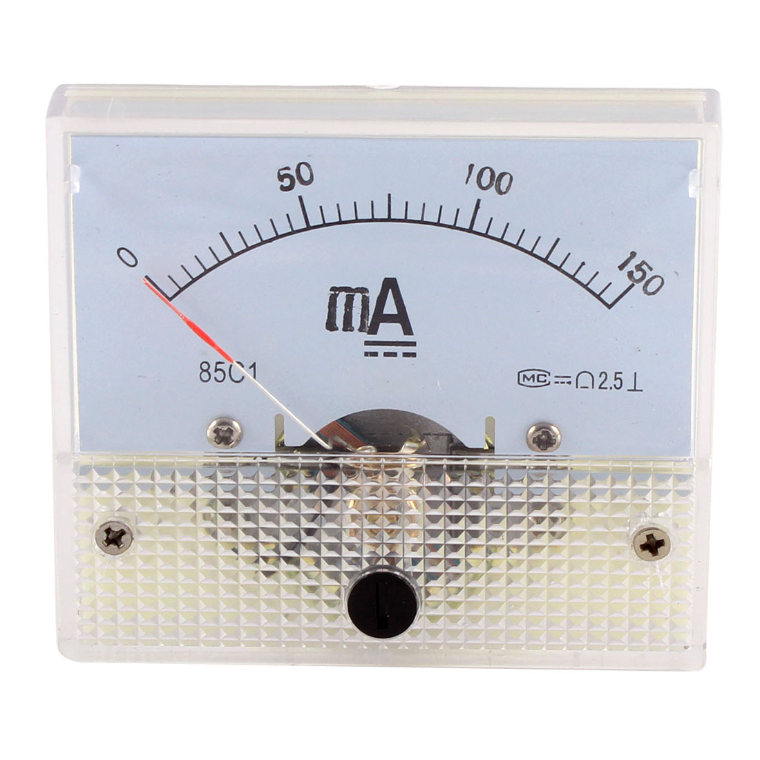 85C1 DC 0-150mA Rectangle Panel Gauge Meter Analog Ampere Ammeter Class 2.5