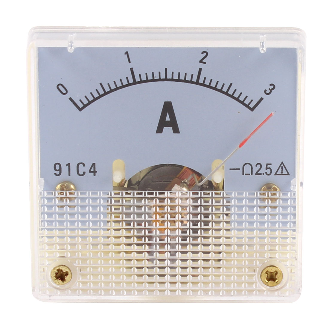 91C4 DC 0-3A Rectangle Mini Analog Panel Ammeter Gauge Amperemeter Class 2.5