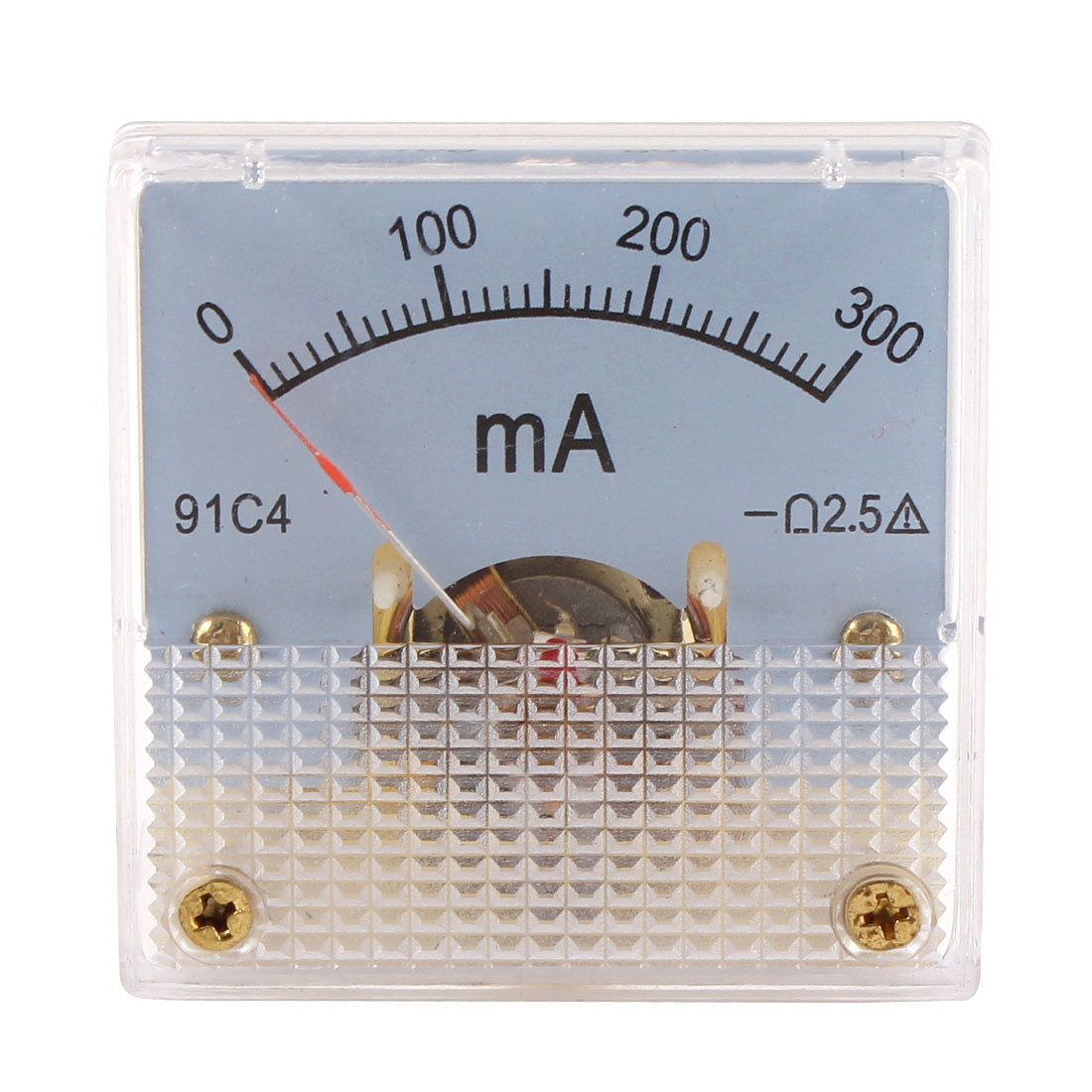 91C4 DC 0-300mA Rectangle Mini Analog Panel Ammeter Gauge Amperemeter Class 2.5