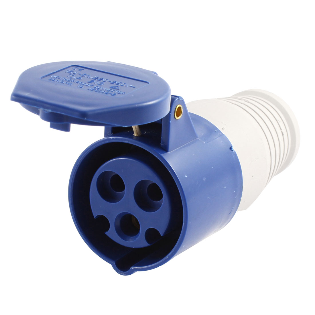 AC 220-250V 16A Blue White Plastic Water Proof IEC309-2 Industrial Socket TYP-213