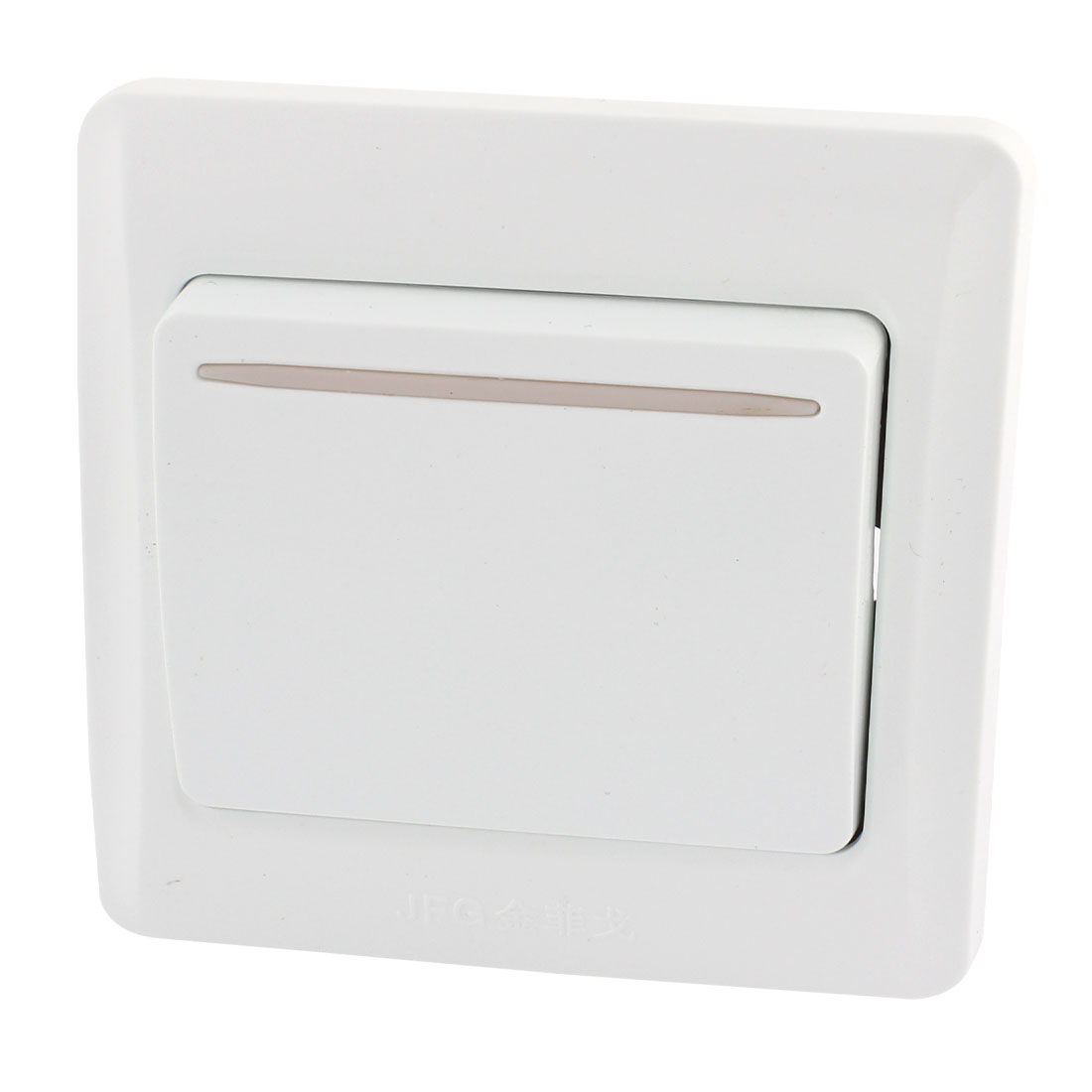 AC 10A 250V Square 1 Gang On/Off Press Button Type Wall Plate Switch White