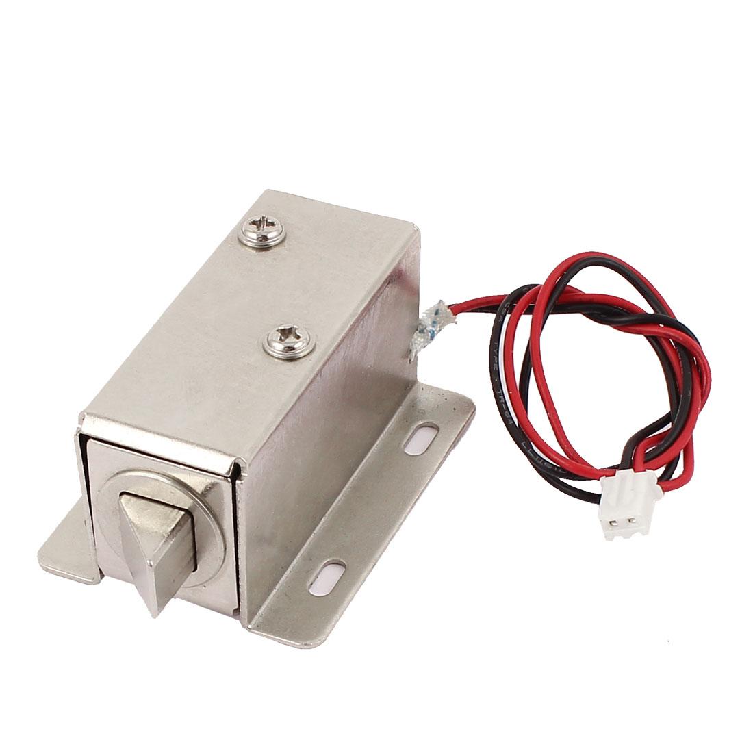 DC 12V 1.8A 15N Open Frame Type Actuator Door Lock Solenoid Silver Tone