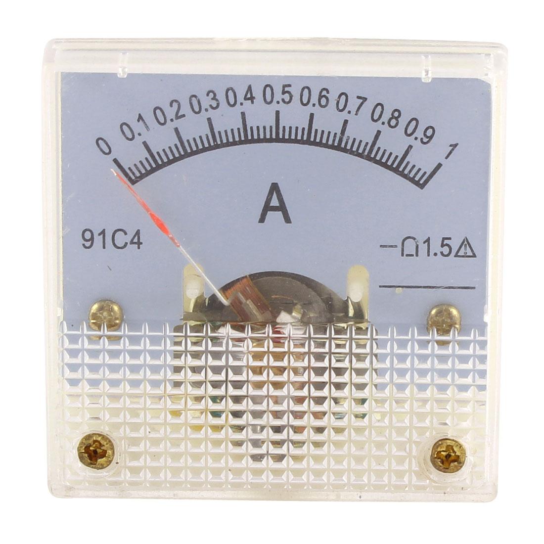 91C4 DC 0-1A Mini Analog Panel Ammeter Gauge Amperemeter Class 1.5