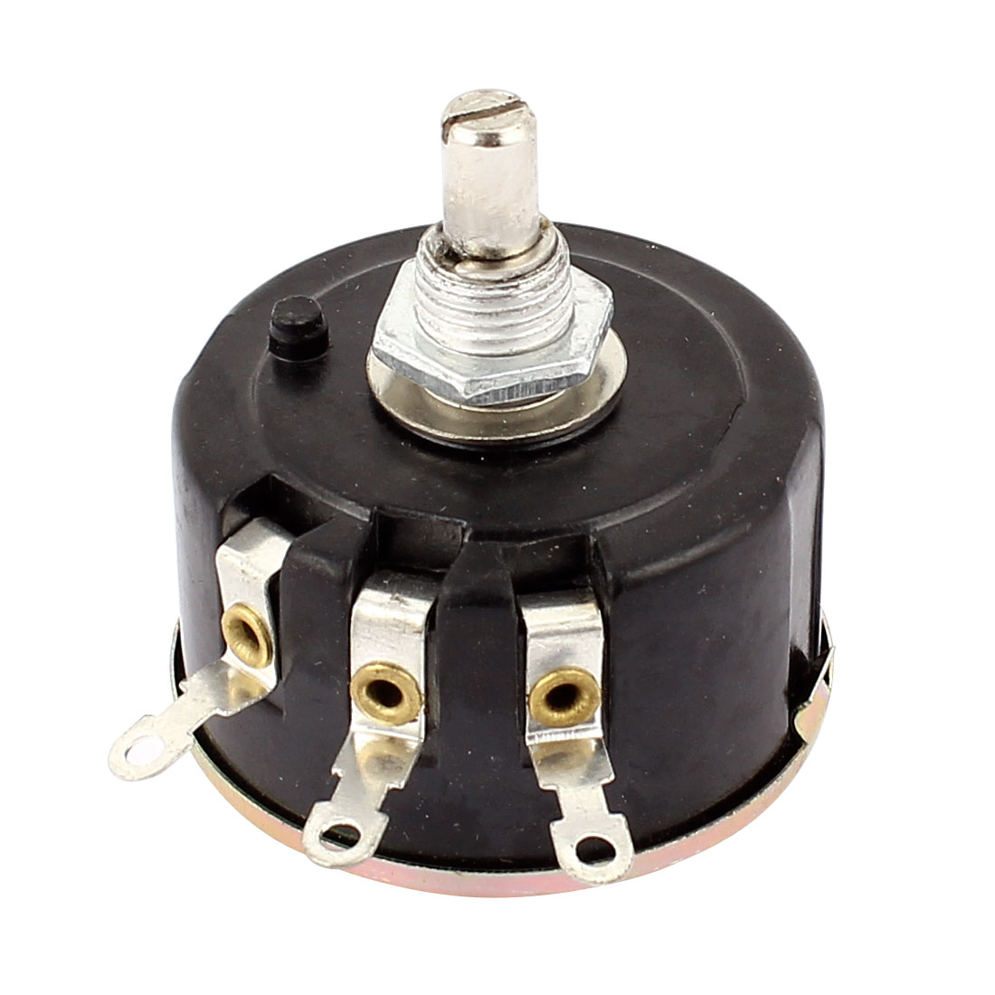WX112(050) 10K ohm 5W 6mm Shaft 3 Terminal Wirewound Potentiometer
