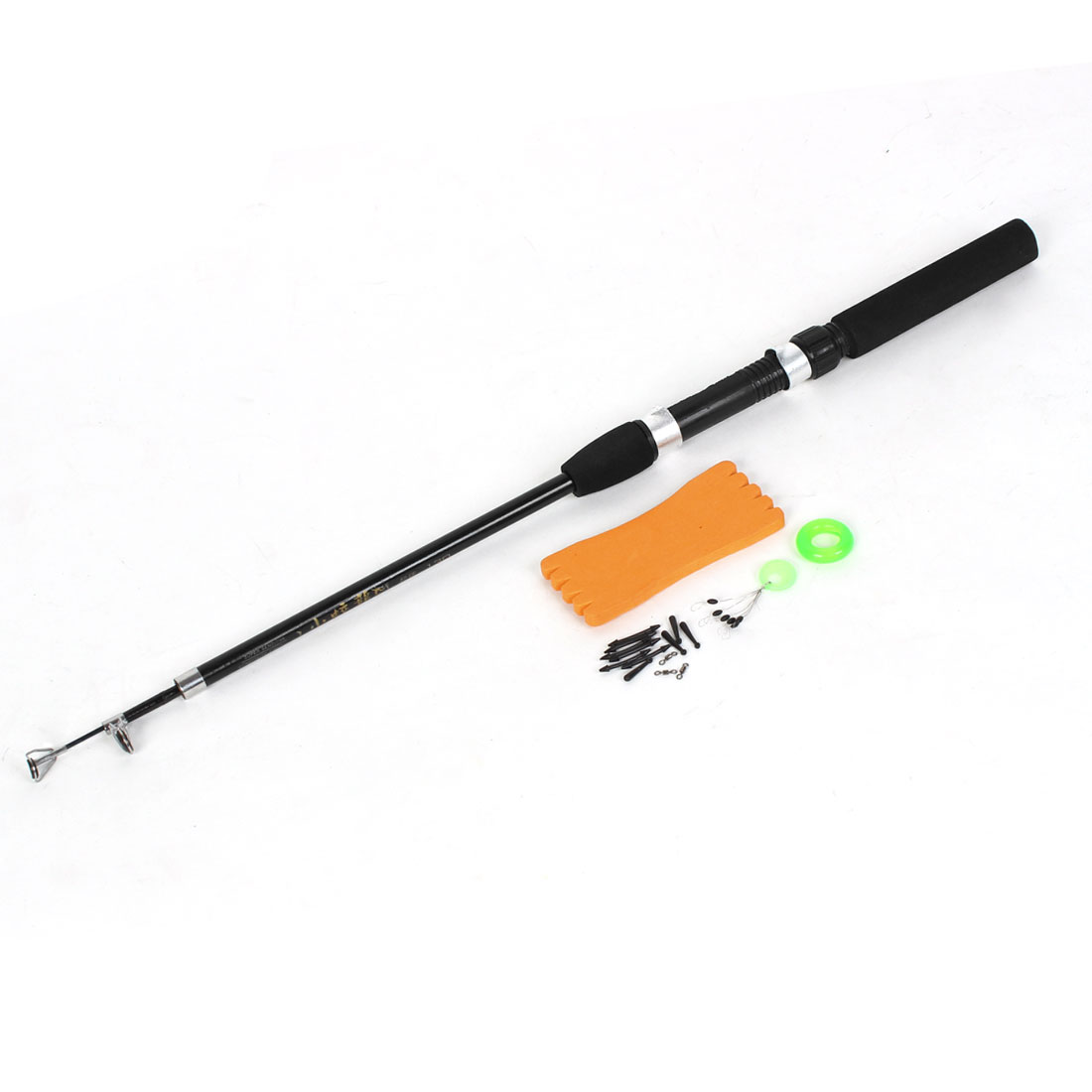 4Ft 3 Sections Carbon Fiber Fishing Spinning Rod Casting Pole Black