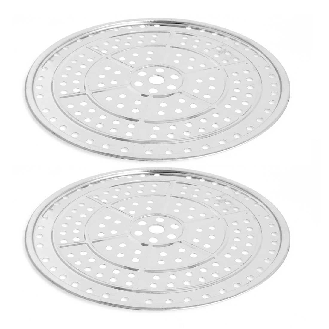 "2pcs 12.6"" Stainless Steel Cooking Food Steaming Steamer Rack Plate"