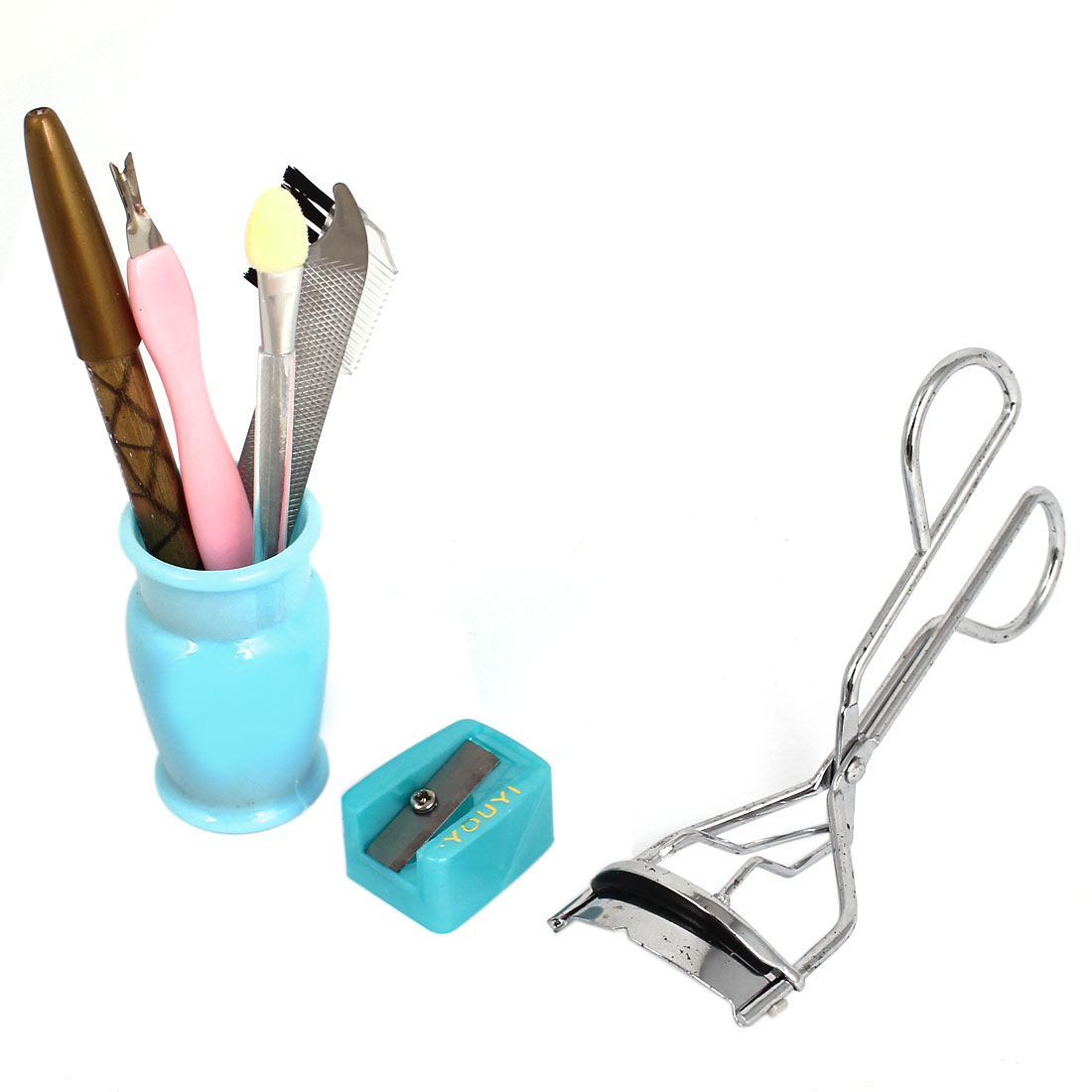 7 in 1 Beauty Tool Set Eyebrow Curler Comb Pencil Eyeshadow Applicator