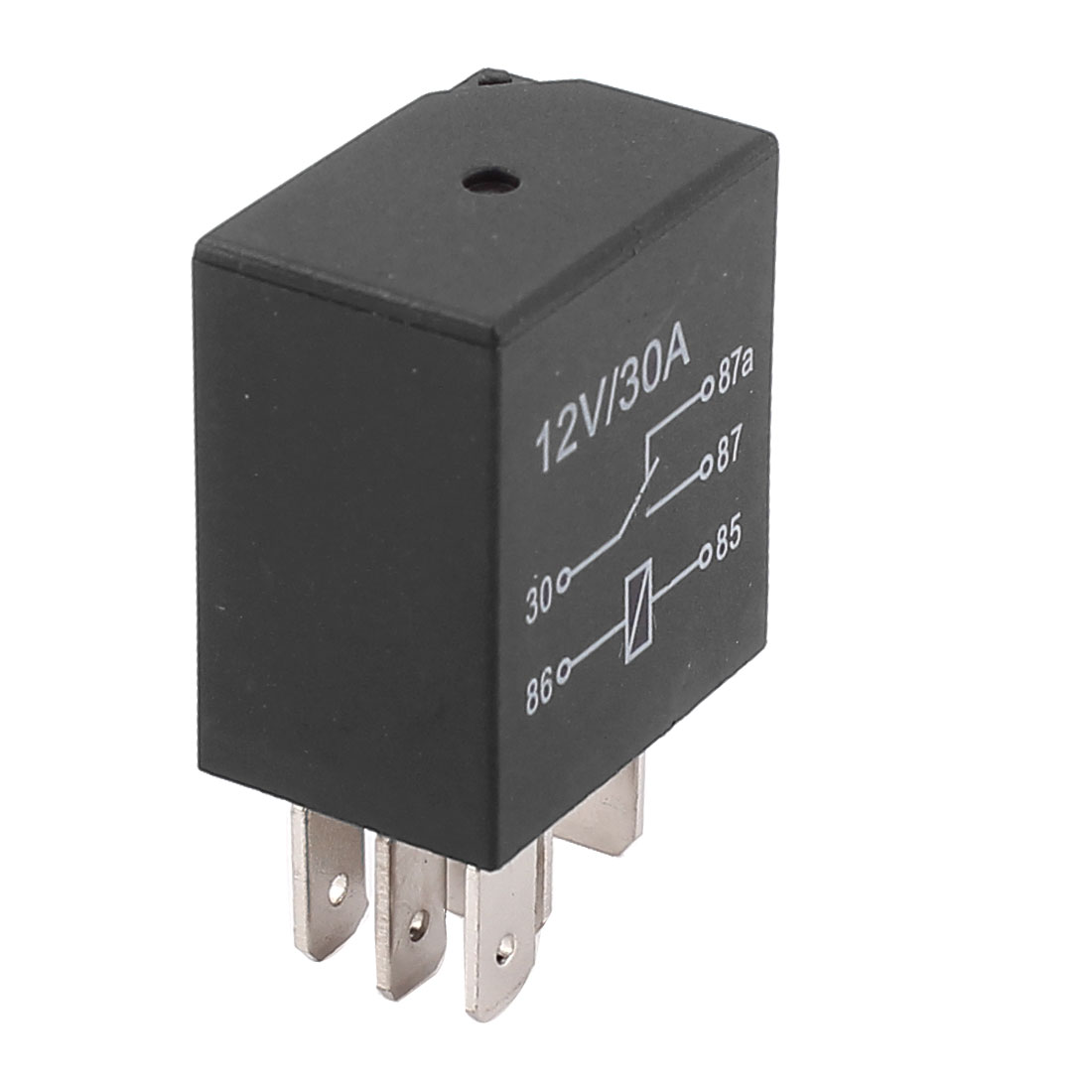 DC 12V 30A Car 5 Pins Terminals 1NO 1NC SPDT Relay Black