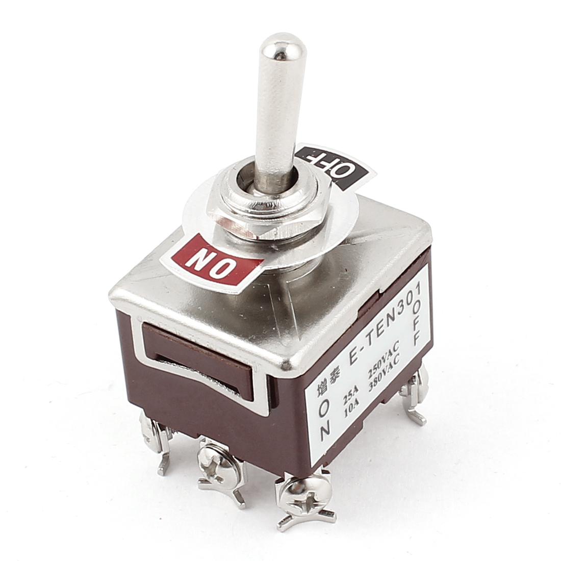 AC 250V/25A 380V/10A 6 Pins 2 Position ON/OFF DPDT Toggle Switch