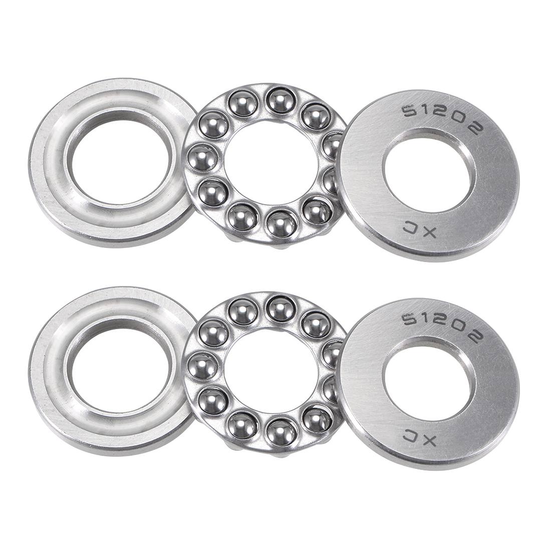 2 Pcs Axial Ball Single Thrust Bearing 32mm x 15mm x 12mm 51202