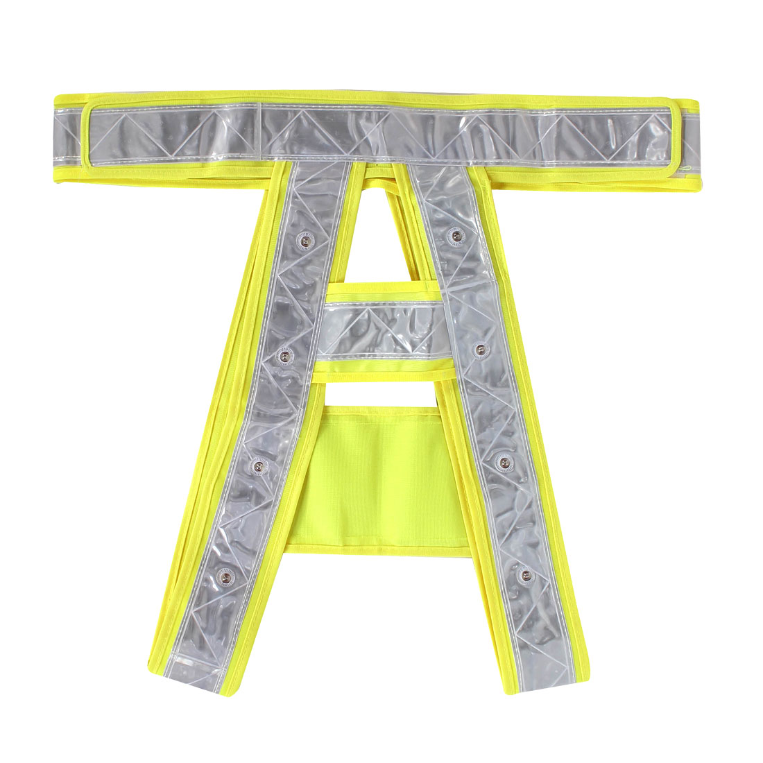 Cyclists Runner Detachable Straps 16 LED Light Up Reflective Stripes Safety Vest