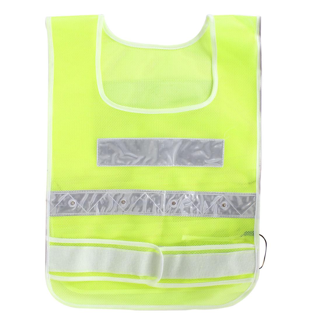 Red Illuminated Light Up Detachble Waist Straps LED Reflective Safety Vest