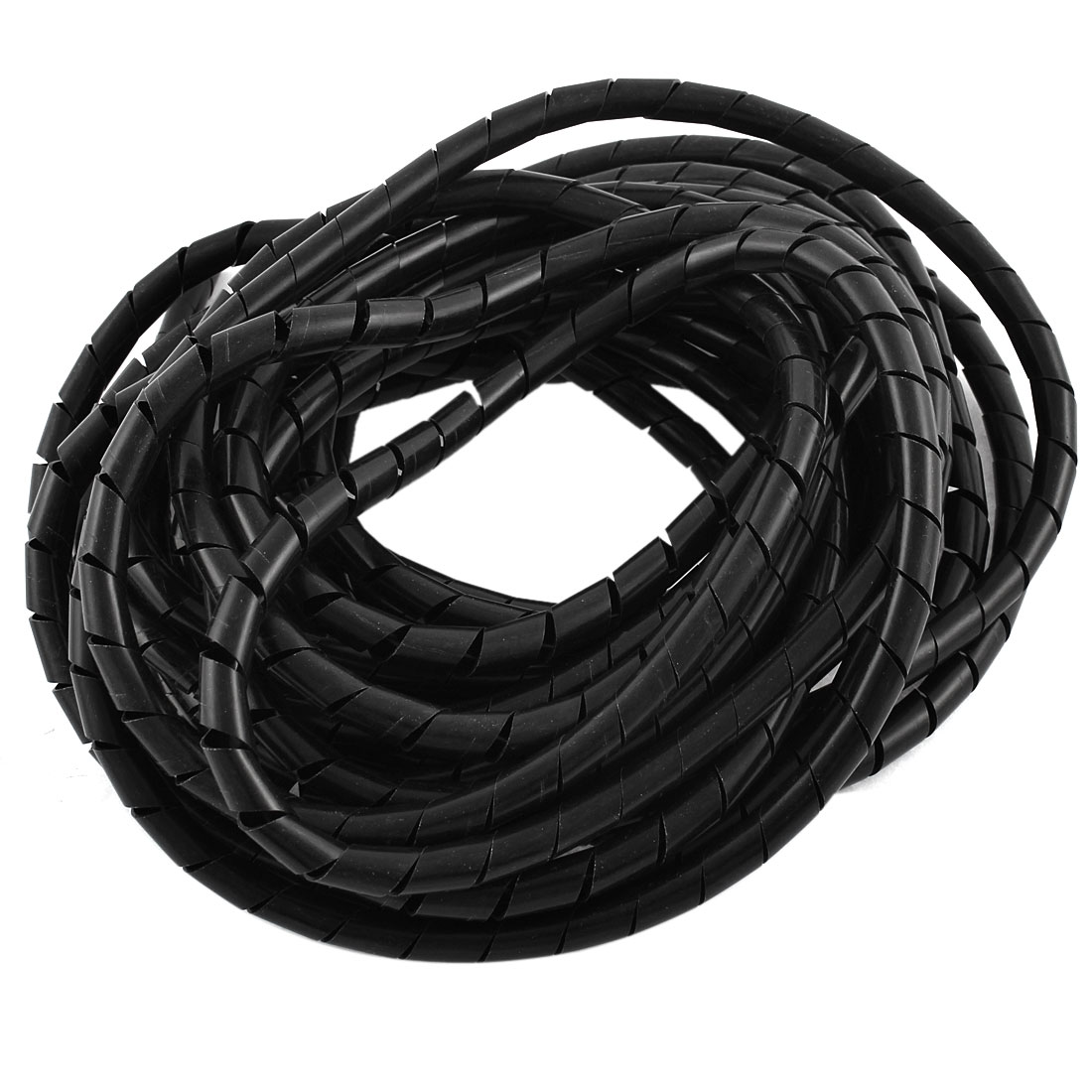 Polyethylene Black Spiral Wrapping Band Cable Wire Manager 8mm Dia 8M Long
