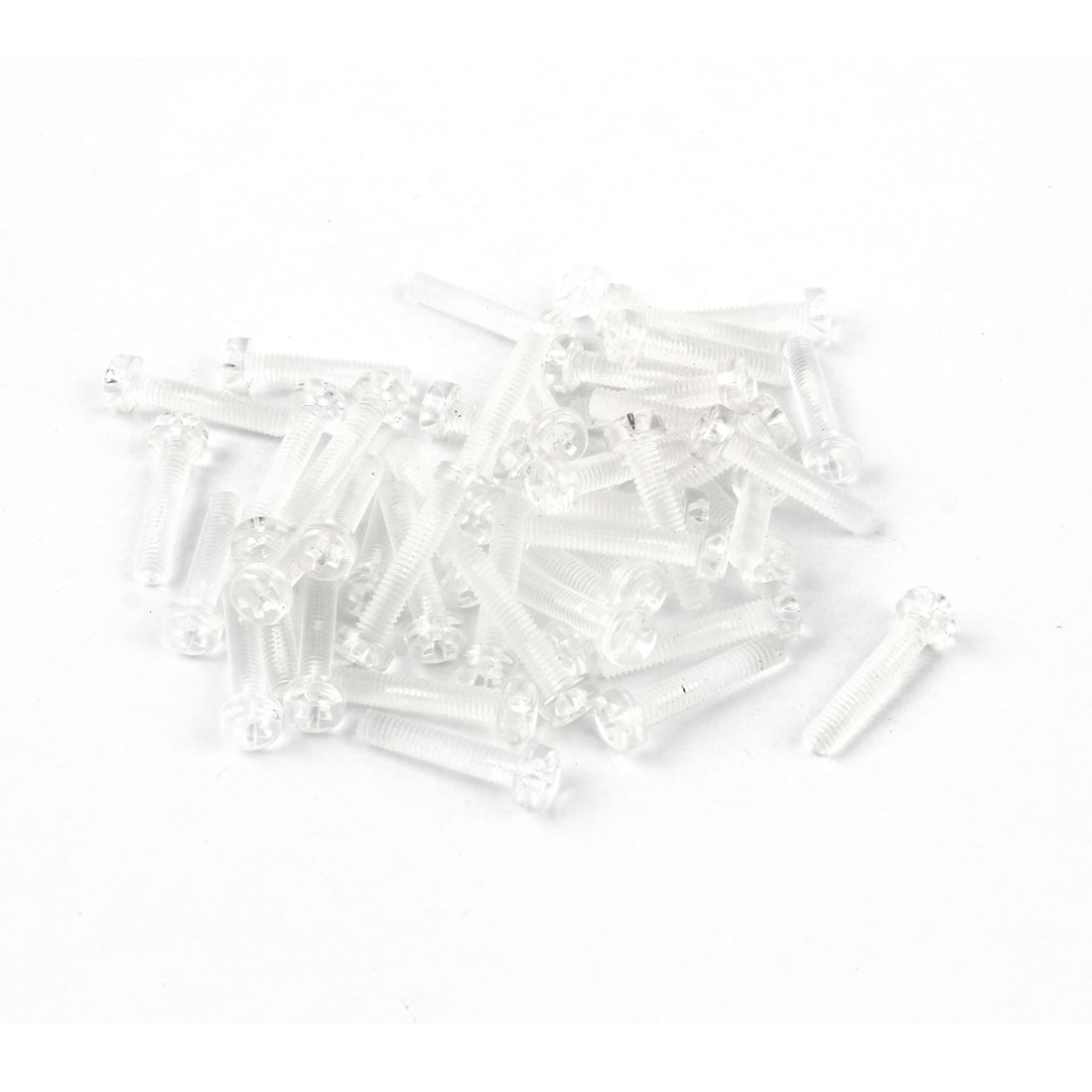 M4 x 20mm Clear Polycarbonate Phillips Round Head Machine Screws 50pcs