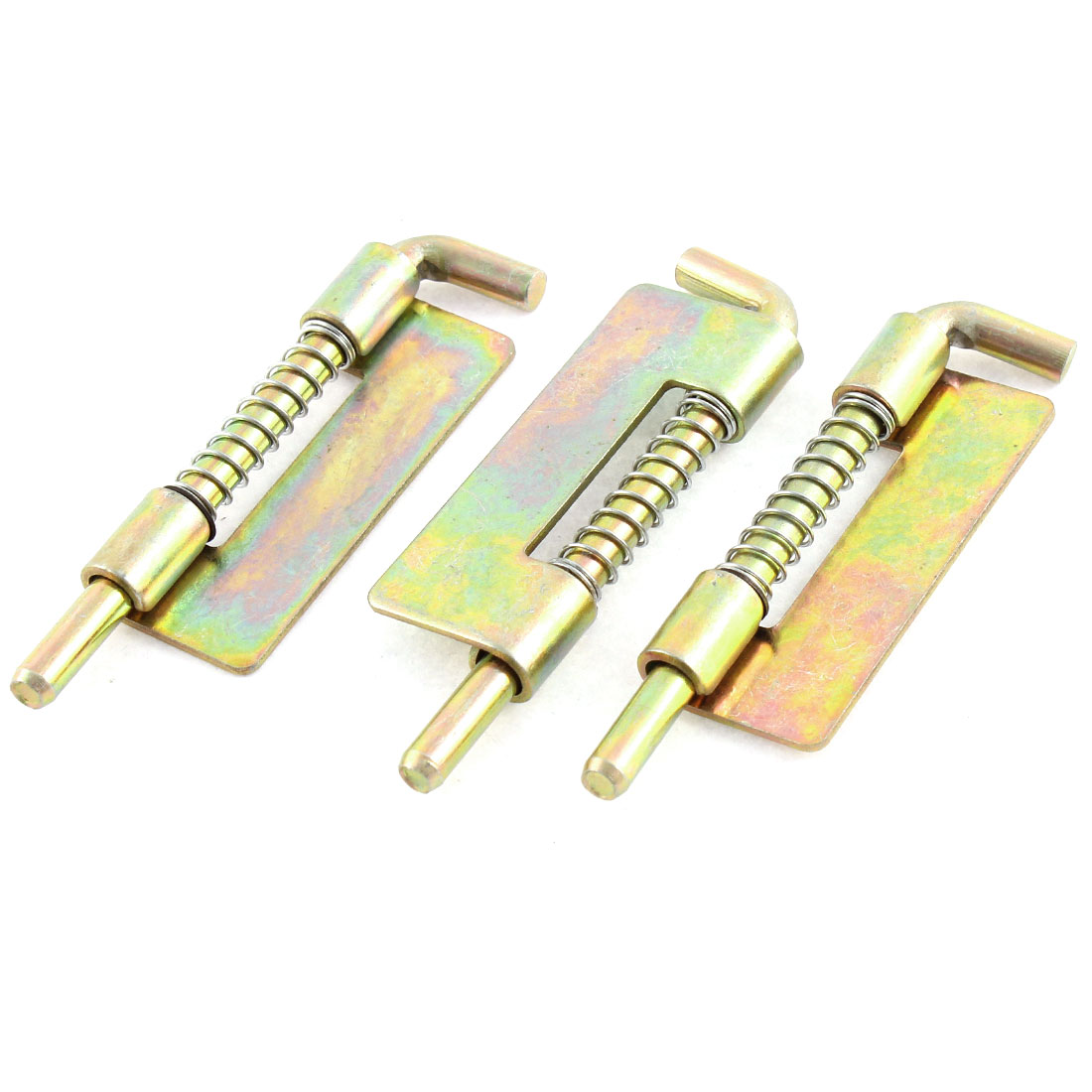 "Bronze Tone 5mm Rod Spring Loaded Security Barrel Bolt Latch 2.8"" Length 3PCS"