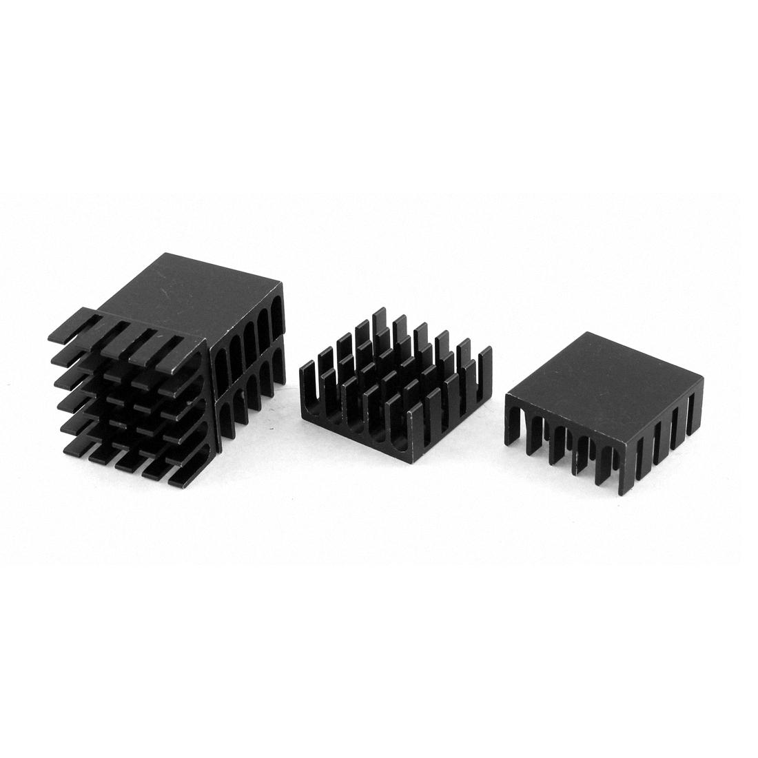 Power Amplifier Transistor IC FET Aluminium Heatsink 22 x 22 x 10mm 5 PCS
