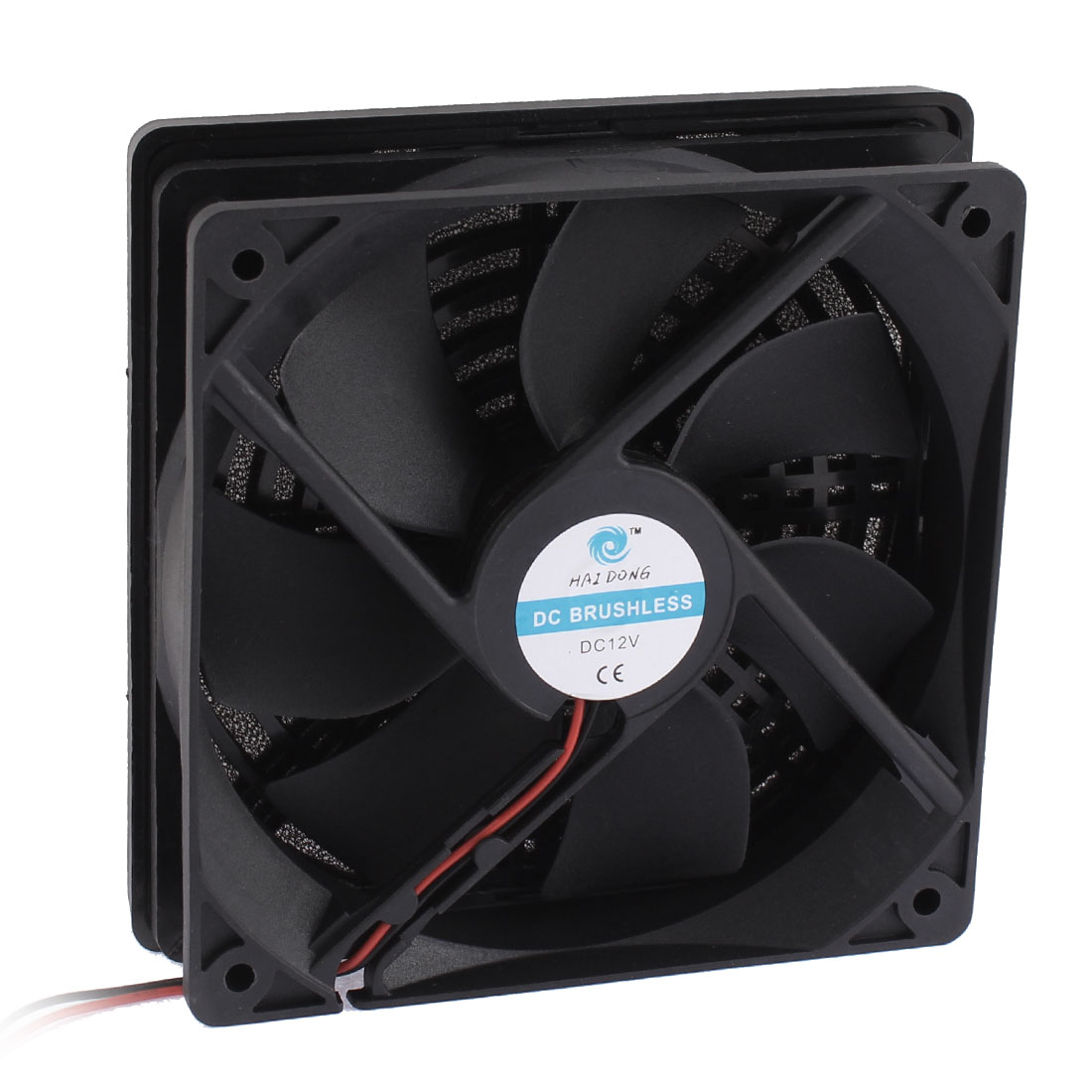 DC 12V PC Cooling Fan Cooler Axial w Dust Filter Mesh Black