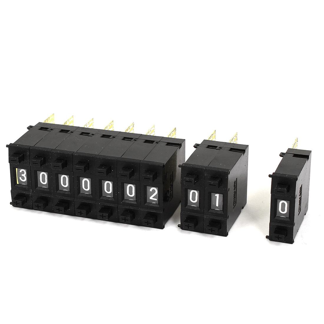 0-9 Digital Scale Single Unit Pushwheel Dual Push Button Code Switch 10Pcs