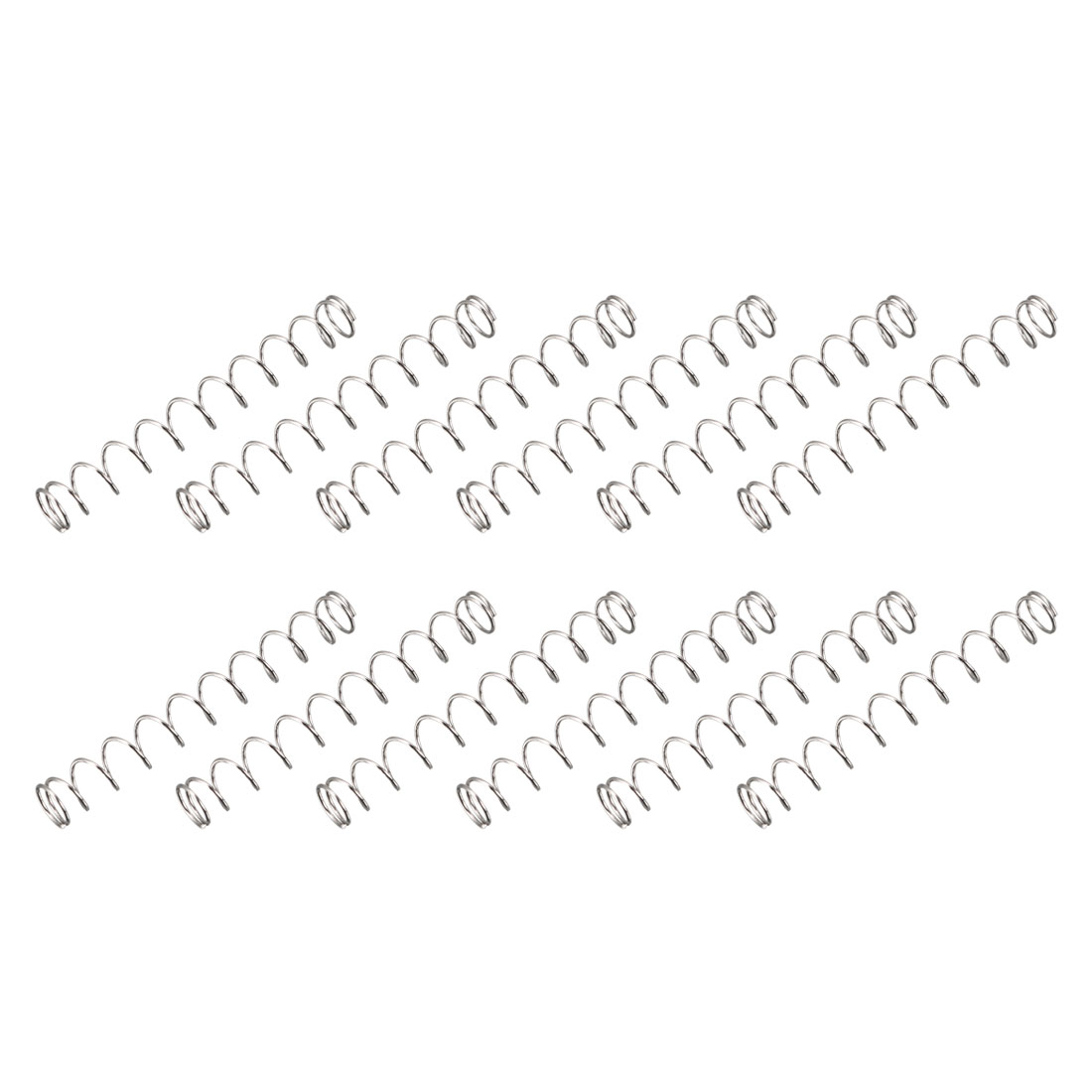 "12pcs 0.22"" OD 0.02"" Wire Dia 1.6"" Long Compression Spring Connectors"