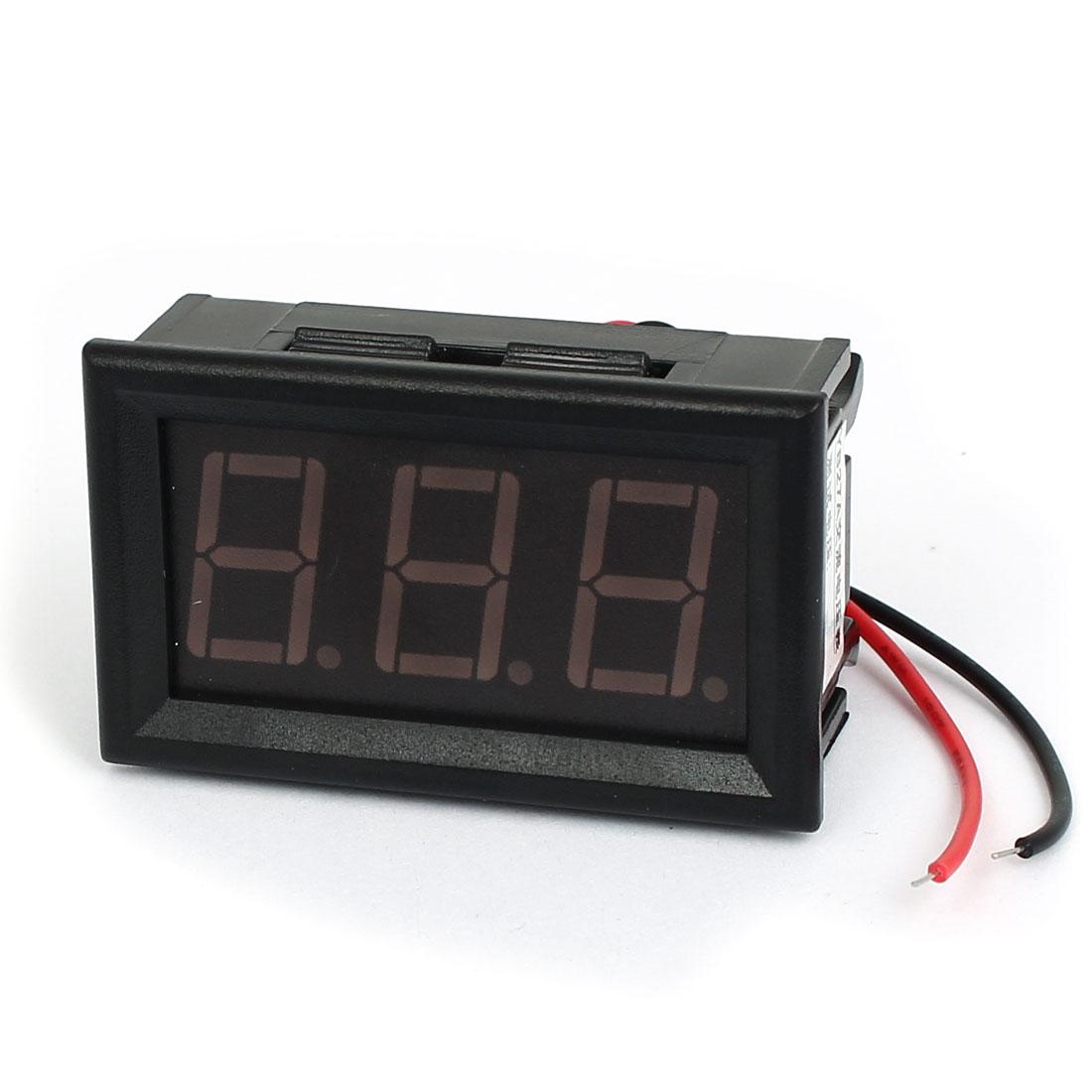 AC 60-500V 2 Wire Green Digital Display Rectangle Voltage Panel Meter Voltmeter