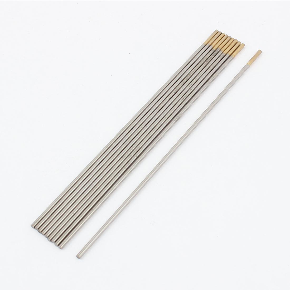 """10 Pcs WL15 TIG Welder 1.5% Lanthanated Tungsten Electrodes 3/32"""" x 7"""""""