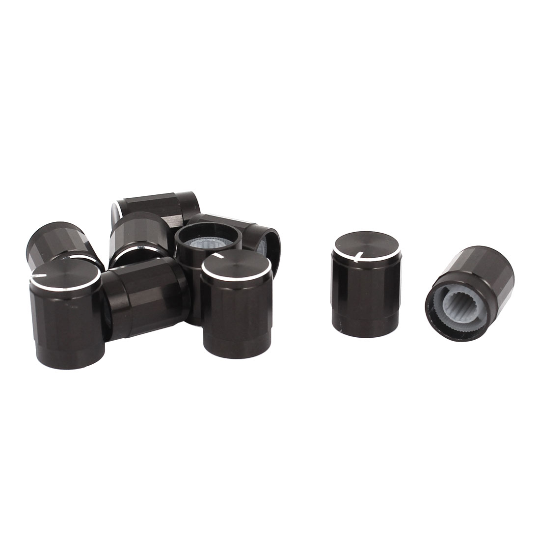10PCS 6mm Shaft Hole 13x16mm Knob Cap Black for Rotary Potentiometer