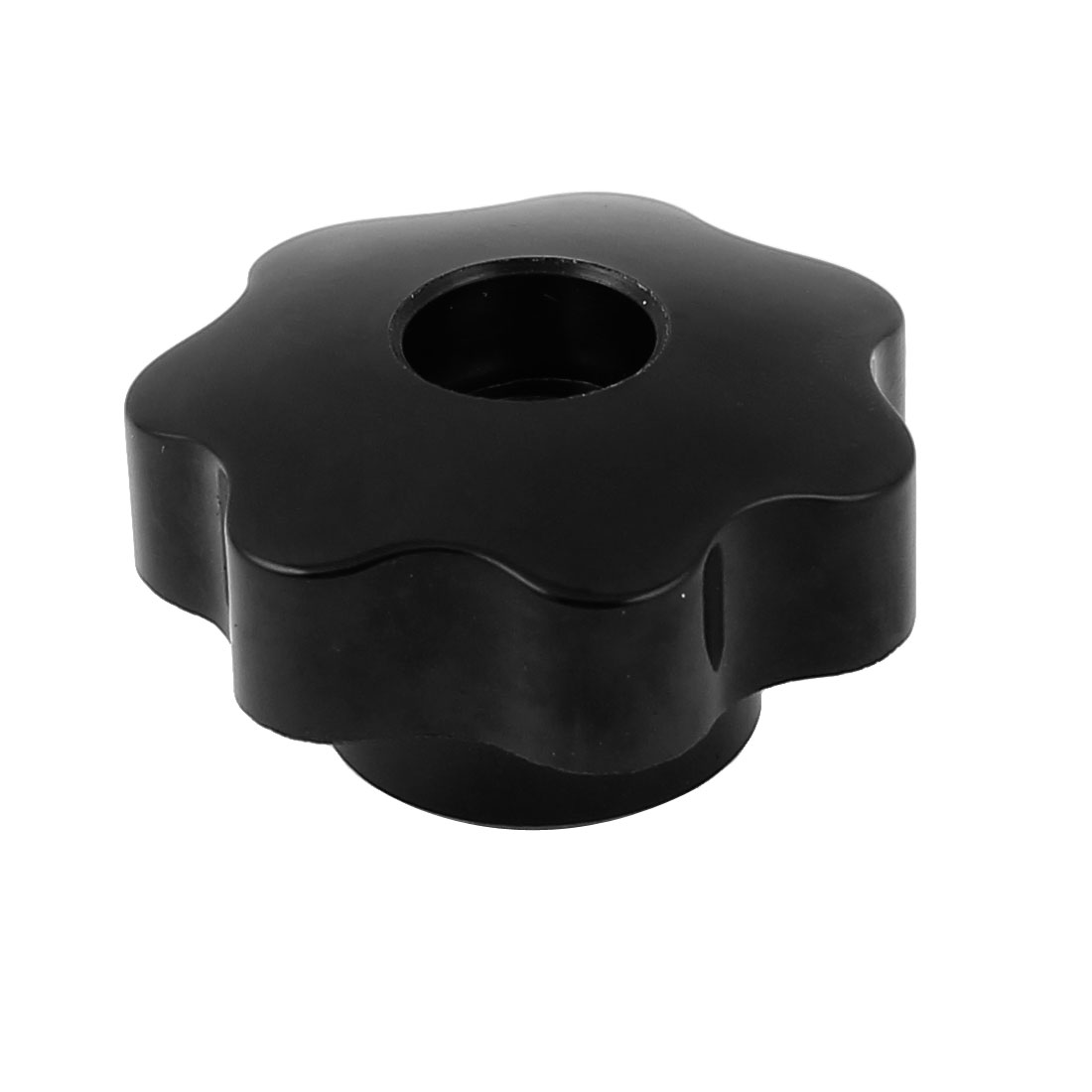 M10x50mm Plastic Screw On Type Grip Star Knurled Knob Replacement Black