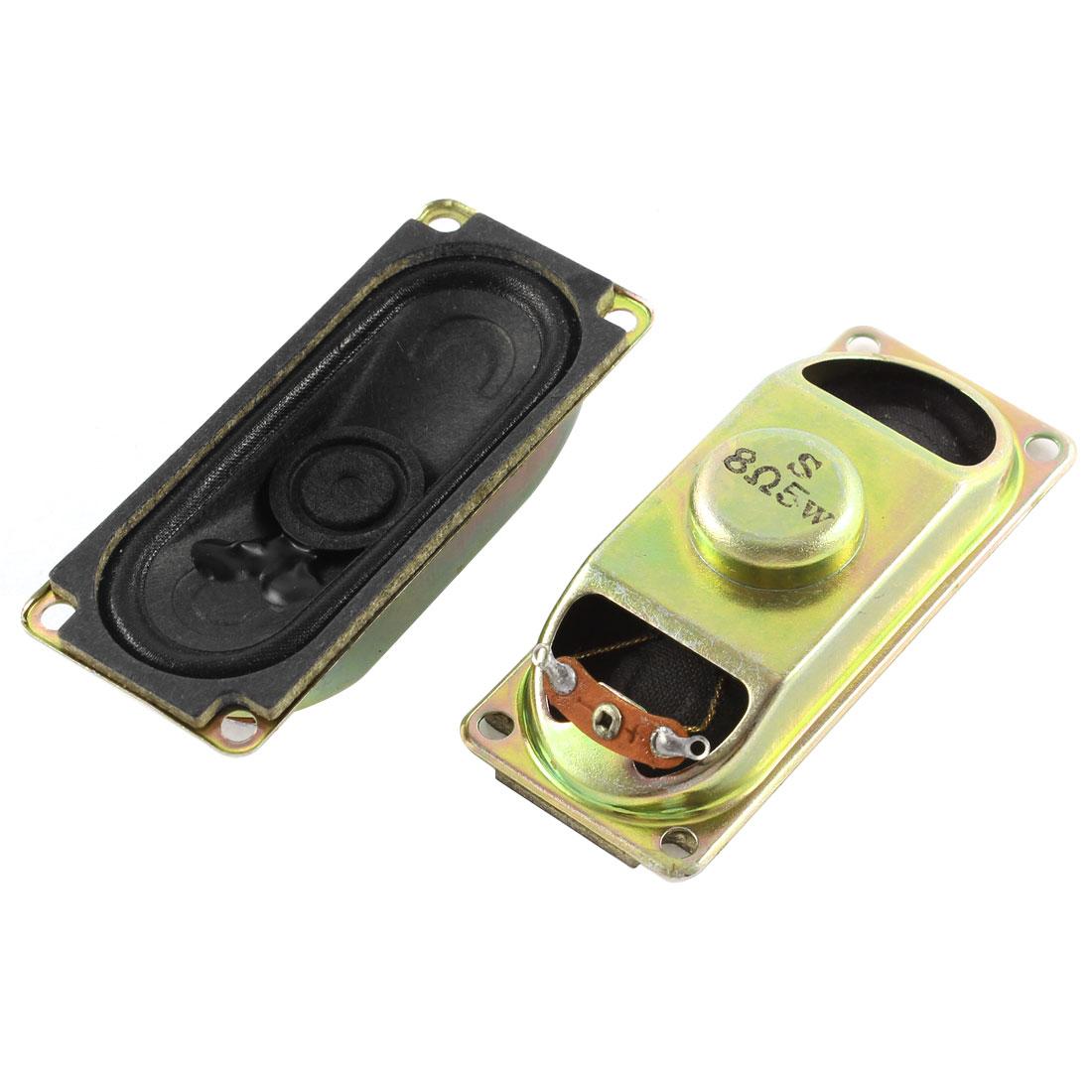 2Pcs 8 Ohm 5 W LCD TV Audio Speaker Amplifier Loudspeaker Trumpets Bronze Tone