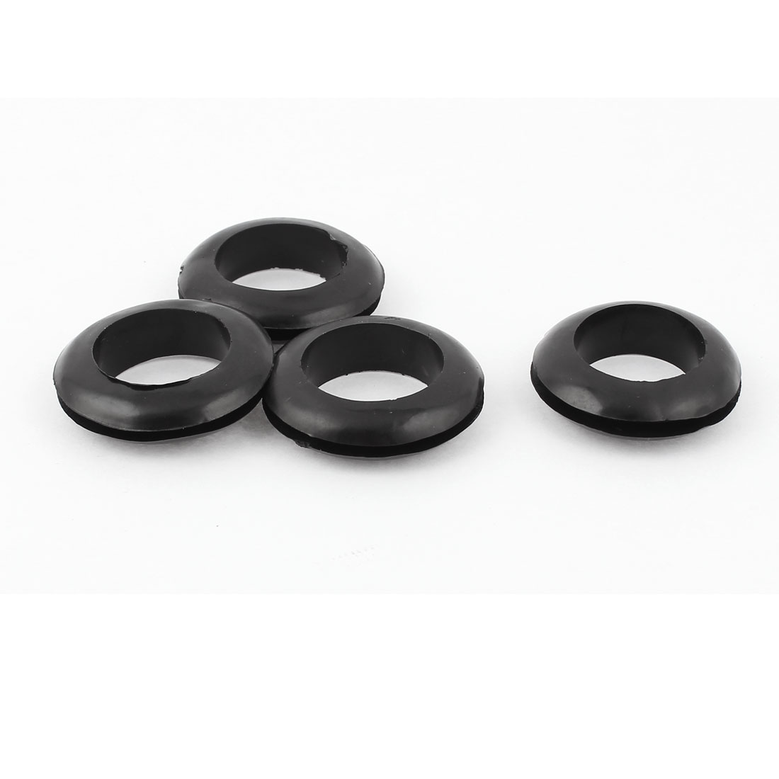 26mm Dia. Double Sides Rubber Wire Grommets Gasket Ring Cable Protector 4Pcs