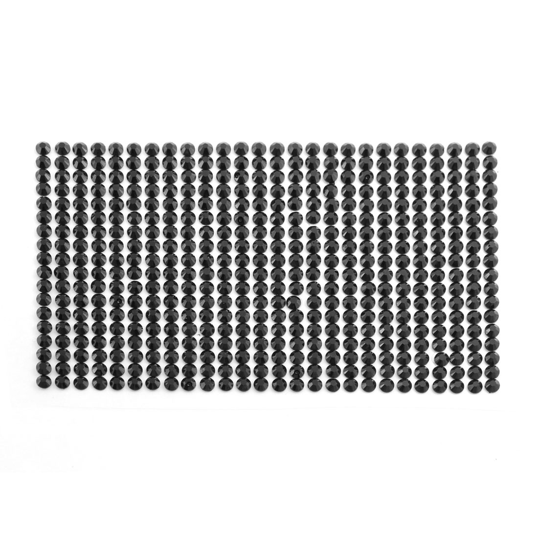 Black 5mm Round Self Adhesive Bling Crystal Rhinestone Decorating DIY Stickers
