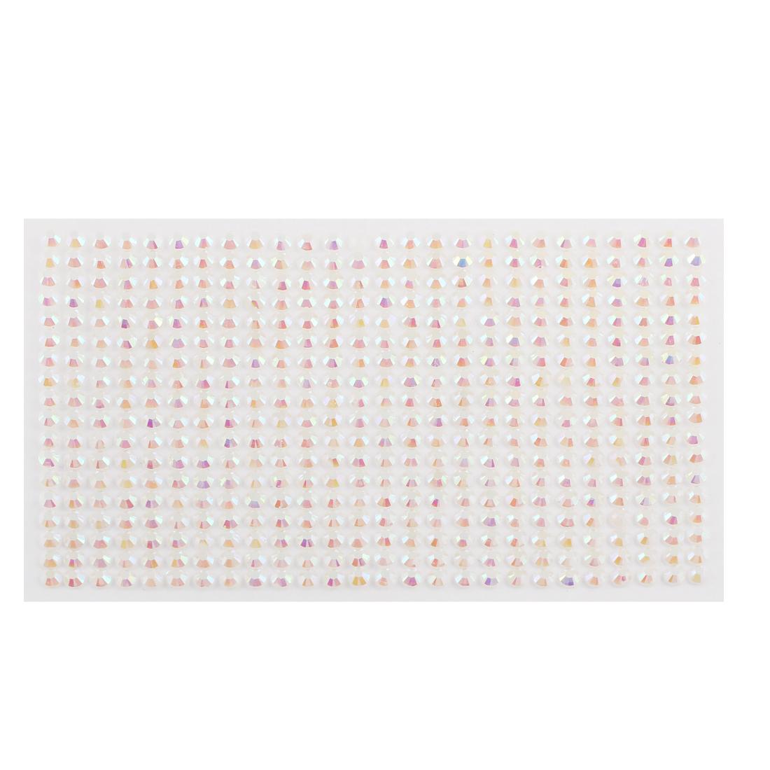 White 5mm Round Self Adhesive Sparkly Crystal Rhinestone DIY Stickers