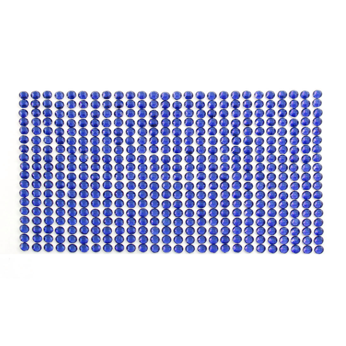 Dark Blue 5mm Round Self Adhesive Bling Crystal Rhinestone Stickers for Car Mobile PC Decoration